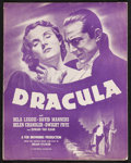 """Movie Posters:Horror, Dracula (Universal, R-1947). Uncut Pressbook (12 Pages, 11"""" X 14"""").Horror.. ..."""