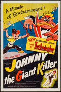 "Movie Posters:Animation, Johnny the Giant Killer (Lippert, 1953). One Sheet (27"" X 41""). Animation.. ..."