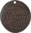 Antiques:Black Americana, 1801 Charleston SERVANT Slave Hire Badge, Number 191. ...