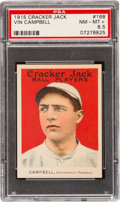 Baseball Cards:Singles (Pre-1930), 1915 Cracker Jack Vin Campbell #168 PSA NM-MT+ 8.5....