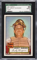 Baseball Cards:Singles (1950-1959), 1952 Topps Smoky Burgess #357 SGC 88 NM/MT 8 - Pop Two, NoneHigher....