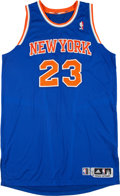 Basketball Collectibles:Uniforms, 2012-13 Marcus Camby Game Worn New York Knicks Jersey. ...