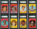 Baseball Cards:Lots, 1959 Topps Baseball High Number SGC 96 MINT 9 Collection (8). ...