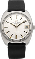 Timepieces:Wristwatch, IWC Ref. 3401 Stainless Steel Electronic With Date. ...
