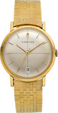 Timepieces:Wristwatch, Corum Gent's Gold Automatic, Gold Band. ...