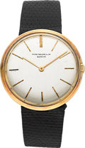 Timepieces:Wristwatch, Patek Philippe Ref. 2591 Calatrava 18k Yellow Gold . ...