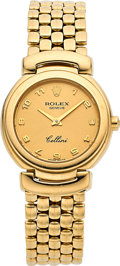 Timepieces:Wristwatch, Rolex Lady's Cellini 18k Yellow Gold. ...