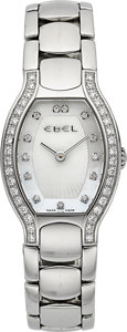 Timepieces:Wristwatch, Ebel Beluga Steel & Diamonds. ...