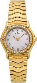 Timepieces:Wristwatch, Ebel 1911 Yellow Gold & Diamonds Ref. 8057902. ...