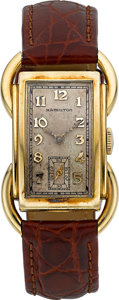 "Timepieces:Wristwatch, Hamilton 14k Gold ""Bentley"", circa 1937. ..."