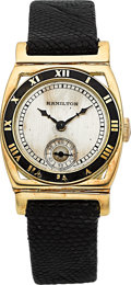 "Timepieces:Wristwatch, Hamilton Yellow Gold ""Piping Rock"", circa 1937. ..."