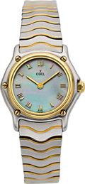 Timepieces:Wristwatch, Ebel Classic Wave Mini Mother of Pearl Dial 18k Gold &Stainless Steel. ...