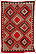 American Indian Art:Weavings, A NAVAJO REGIONAL RUG. c. 1900...