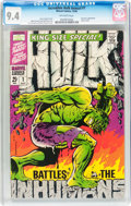 Silver Age (1956-1969):Superhero, The Incredible Hulk Annual #1 (Marvel, 1968) CGC NM 9.4 Off-white pages....