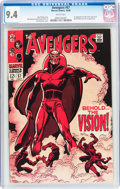 Silver Age (1956-1969):Superhero, The Avengers #57 (Marvel, 1968) CGC NM 9.4 White pages....