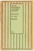 Books:Social Sciences, H.G. Wells. Mankind in the Making. London: Grant Richards,1903. Grant Richards's Indian and colonial library editio...