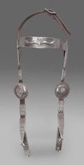 American Indian Art:Jewelry and Silverwork, A NAVAJO SILVER BRIDLE. c. 1920...