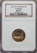 1995-W G$5 Olympic/Stadium Gold Five Dollar MS70 NGC. NGC Census: (539). PCGS Population (190). Numismedia Wsl. Price fo...