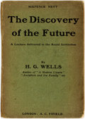 Books:Social Sciences, H.G. Wells. The Discovery of the Future. A Discourse Deliveredto the Royal Institution on January 24, 1902. [Londo...