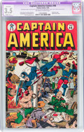 Golden Age (1938-1955):Superhero, Captain America Comics #46 (Timely, 1945) CGC Apparent VG- 3.5 Slight (C-1) Off-white to white pages....