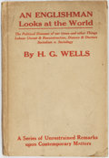 Books:Social Sciences, H.G. Wells. An Englishman Looks at the World. Being a Series ofUnrestrained Remarks upon Contemporary Matters. Lond...