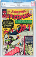 Silver Age (1956-1969):Superhero, The Amazing Spider-Man #14 (Marvel, 1964) CGC NM 9.4 Whitepages....