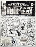 Original Comic Art:Covers, Pablo Marcos Mighty World of Marvel #234 Cover Original Art (Marvel UK, 1977)....