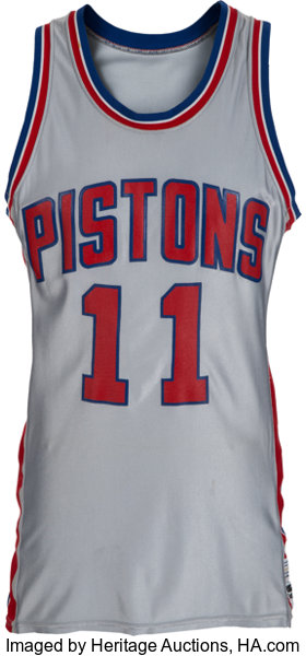 new style 55ecb 9b0a9 Early 1980's Isiah Thomas Game Worn Detroit Pistons Jersey ...