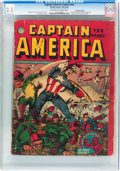 Golden Age (1938-1955):Superhero, Captain America Comics #nn Canadian Edition (Timely, 1942) CGC GD+ 2.5 Off-white to white pages....