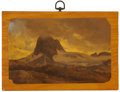 Texas:Early Texas Art - Pre-1900, CARL HERMANN FREDERICK LUNGKWITZ (German, 1813-1891). FoggyMountain Peak, 1846. Oil on paper mounted on wood. 7-3/8 x 1...
