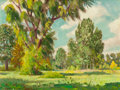 Texas:Early Texas Art - Impressionists, OLIN TRAVIS (American, 1888-1975). Willows and Cottonwoods.Oil on board. 12 x 15-3/4 inches (30.5 x 40.0 cm). Signed lo...