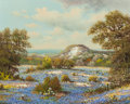 Paintings, WILLIAM ROBERT THRASHER (American, 1908-1997). Western Bluebonnets. Oil on canvas. 16 x 20 inches (40.6 x 50.8 cm). Sign...