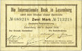 Luxembourg, Luxembourg: International Bank in Luxemburg 2 Mark 5-8-1914,...