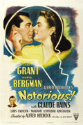 "Movie Posters:Hitchcock, Notorious (RKO, 1946). One Sheet (27"" X 41""). ..."