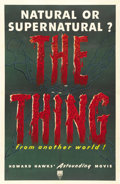 """Movie Posters:Science Fiction, The Thing from Another World (RKO, 1951). One Sheet (27"""" X 41""""). ..."""