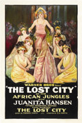 "Movie Posters:Serial, The Lost City of the African Jungles (Warner Brothers, 1920)Chapter 15 -- ""The Lost City"". One Sheet (27.25"" X 41""). ..."