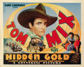 "Movie Posters:Western, Hidden Gold (Universal, 1932). Title Lobby Card (11"" X 14""). ..."