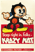 "Movie Posters:Animated, Krazy Kat (Columbia, 1934). Stock One Sheet (27"" X 41""). ..."