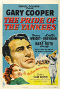 "Movie Posters:Sports, The Pride of the Yankees (RKO, R-1949). One Sheet (27"" X 41""). ..."