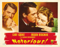 "Movie Posters:Hitchcock, Notorious (RKO, 1946). Lobby Card (11"" X 14""). ..."