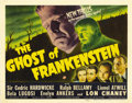 "Movie Posters:Horror, Ghost of Frankenstein (Universal, 1942). Title Lobby Card (11"" X 14""). ..."