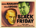 "Movie Posters:Horror, Black Friday (Universal, 1940). Title Lobby Card (11"" X 14""). ..."