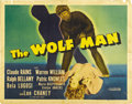 "Movie Posters:Horror, The Wolf Man (Universal, 1941). Half Sheet (22"" X 28"")...."