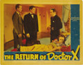 "Movie Posters:Horror, The Return of Dr. X (Warner Brothers, 1939). Lobby Card (11"" X14""). ..."
