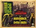 """Movie Posters:Horror, The Hunchback of Notre Dame (RKO, 1939). Title Lobby Card and SceneCard (11"""" X 14""""). ... (Total: 2 Items)"""