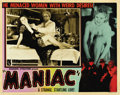 "Movie Posters:Horror, Maniac (Roadshow Attractions, 1934). Lobby Card (11"" X 14""). ..."