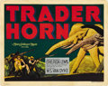 "Movie Posters:Adventure, Trader Horn (MGM, 1931). Title Lobby Card (11"" X 14""). ..."