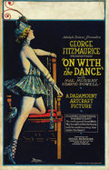 "Movie Posters:Drama, On with the Dance (Paramount, 1920). Window Card (14"" X 22""). ..."