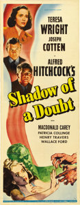 """Movie Posters:Hitchcock, Shadow of a Doubt (Universal, 1943). Insert (14"""" X 36""""). ..."""