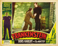 "Movie Posters:Horror, Frankenstein (Realart, R-1951). Lobby Card (11"" X 14""). ..."
